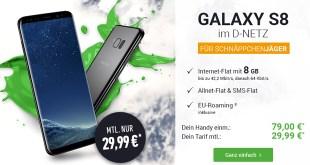 Galaxy S8 mit 6 GB Internet nur 29,99€ mtl.