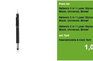 3x 3 in 1 Laser Stylus Kugelschreiber für NUR 2,95€
