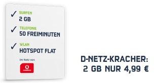 D-NETZ-KRACHER: 2 GB NUR 4,99 €
