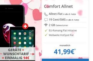 Allnet Flat im Vodafone Netz mit iPhone 7 & iPad 32GB nur 41,99€