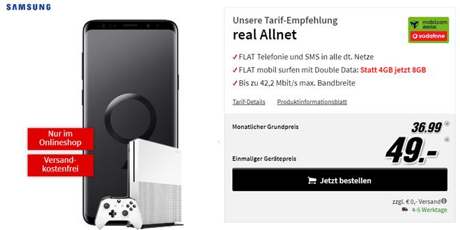 Galaxy S9+ & Xbox One S mit 8GB Internet nur 36,99€ mtl.