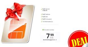 3 GB LTE + Allnet + monatlich kündbar nur 7,99€ mtl.