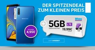 Galaxy A7 mit 5 GB LTE nur 19,99€ mtl.