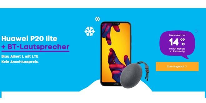 Huawei P20 lite mit 3 GB LTE nur 14,99€ mtl.