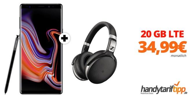 Galaxy Note9 & Sennheiser HD mit 10 GB LTE nur 34,99€