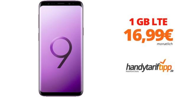 Galaxy S9 mit 1 GB LTE Allnet nur 16,99€