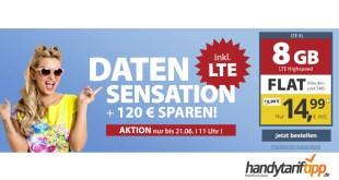 8 GB LTE für nur 14,99€ mtl.