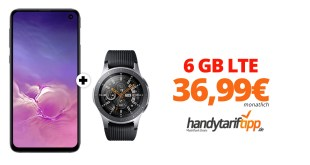 Galaxy S10Plus & Galaxy Watch mit 6 GB LTE nur 36,99€