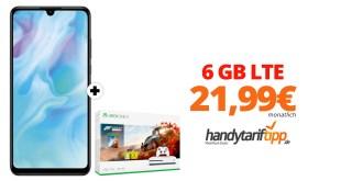 Huawei P30 lite & Xbox mit 6 GB LTE nur 21,99€