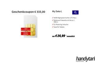 40 GB LTE mit 333€ Coupon nur 24,99€