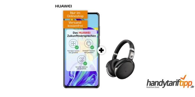 HUAWEI P30 & Sennheiser HD 4.50 mit 10 GB LTE nur 31,99€
