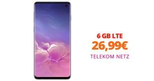 SAMSUNG Galaxy S10 mit 6 GB LTE im Telekom Netz nur 26,99€