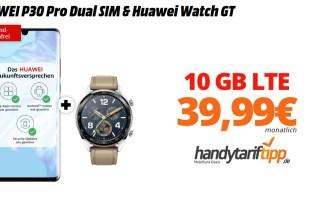 HUAWEI P30 Pro & Watch GT mit 10 GB LTE nur 39,99€
