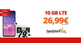 Galaxy S10e & Xbox One S mit 10 GB LTE nur 26,99€