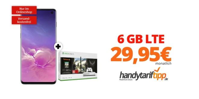 Galaxy S10 & Xbox One S mit 6 GB LTE Telekom nur 29,95€