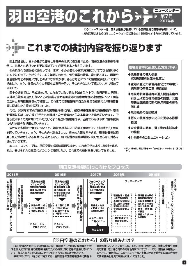 羽田空港のこれからニュースレター7号春