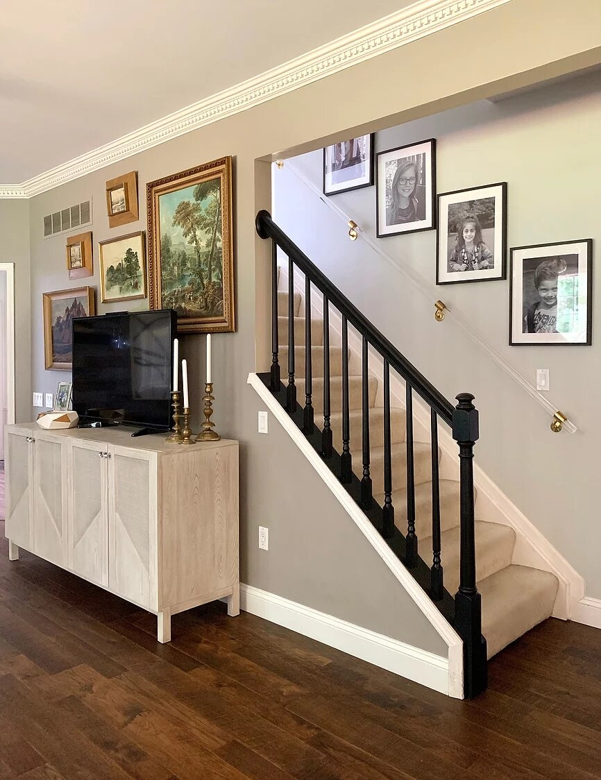 Lucite And Brass Handrail Haneen S Haven | Brass Handrails For Stairs | Aluminum | Classic | Medallion | Cantilevered Spiral Stair | Wrought Iron Railing