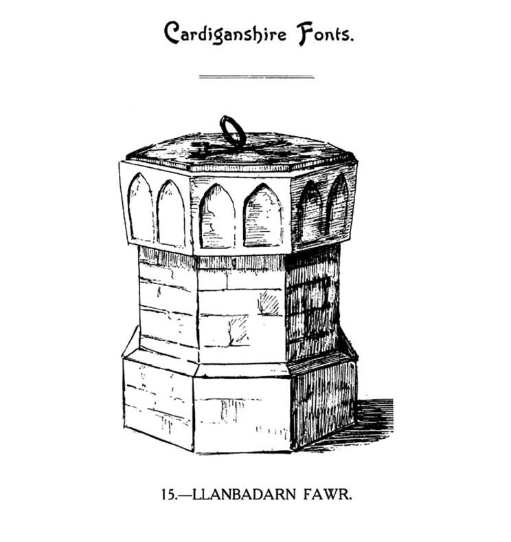 Bedyddfeini Sir Aberteifi - Llanbadarn Fawr