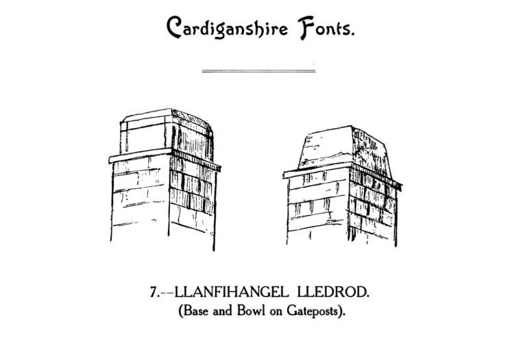 Bedyddfeini Sir Aberteifi - Llanfihangel Lledrod