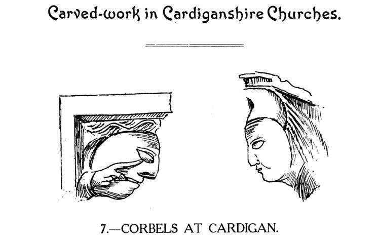 Gwaith cerfiedig yn Eglwysi Sir Aberteifi - Corbels yn Aberteifi