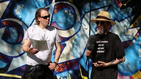 Für Cannabis aktiv – Interview vor der Grafitti Wand
