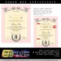 Personal Progress Honor Bee Certificate: Editable/Saveable PDF
