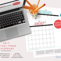 2017 Mutual Theme Calendars: Editable PDF & JPEGS [Horizontal]