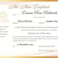 YW Advancement Certificates [Beehive, Mia Maid & Laurel]: Free Editable PDF Files!