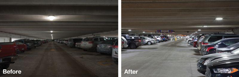 Airport Parking Garage Lighting