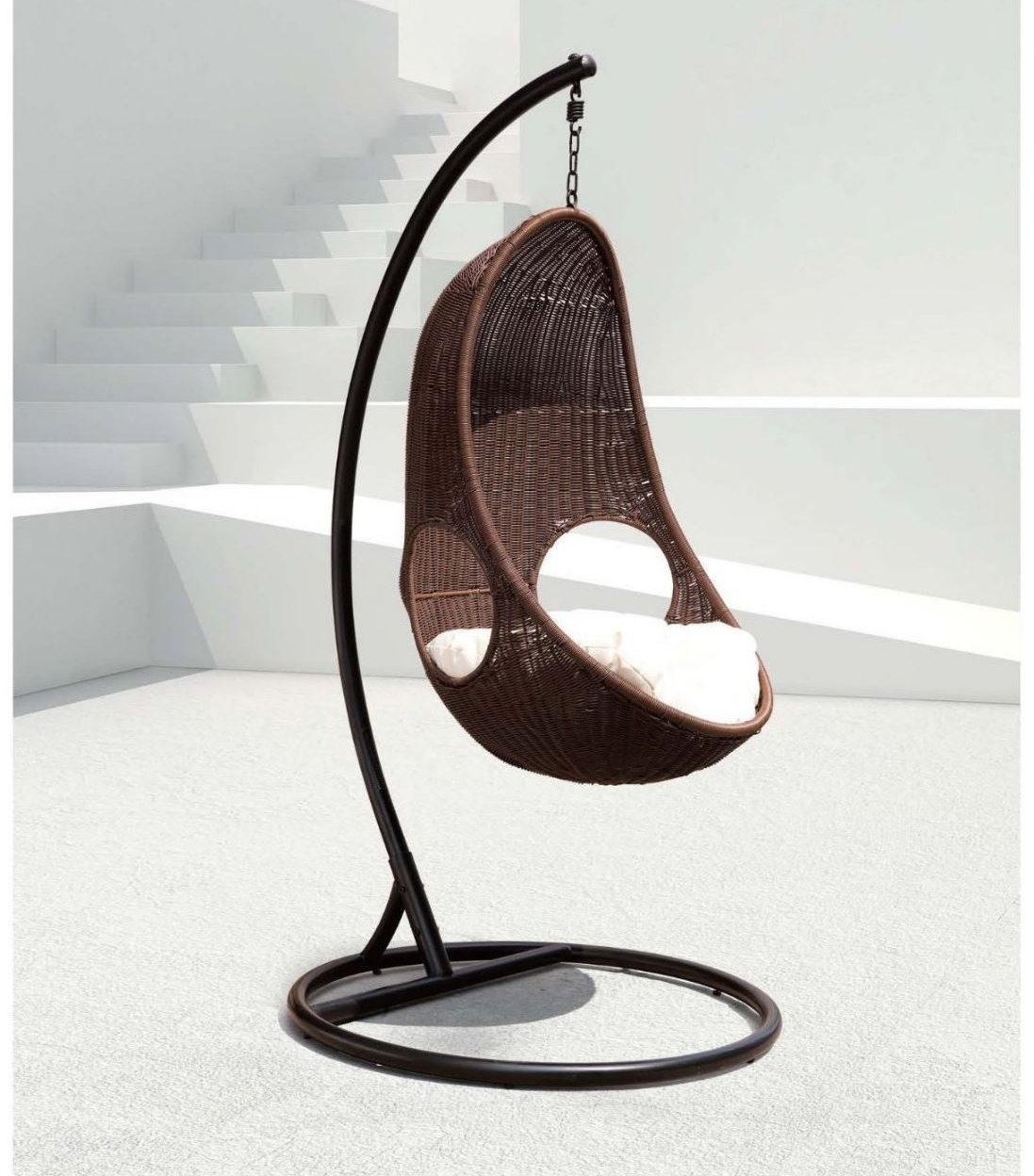 Hanging Egg Chairs Review Wicker Swing Chair By Panama Jack