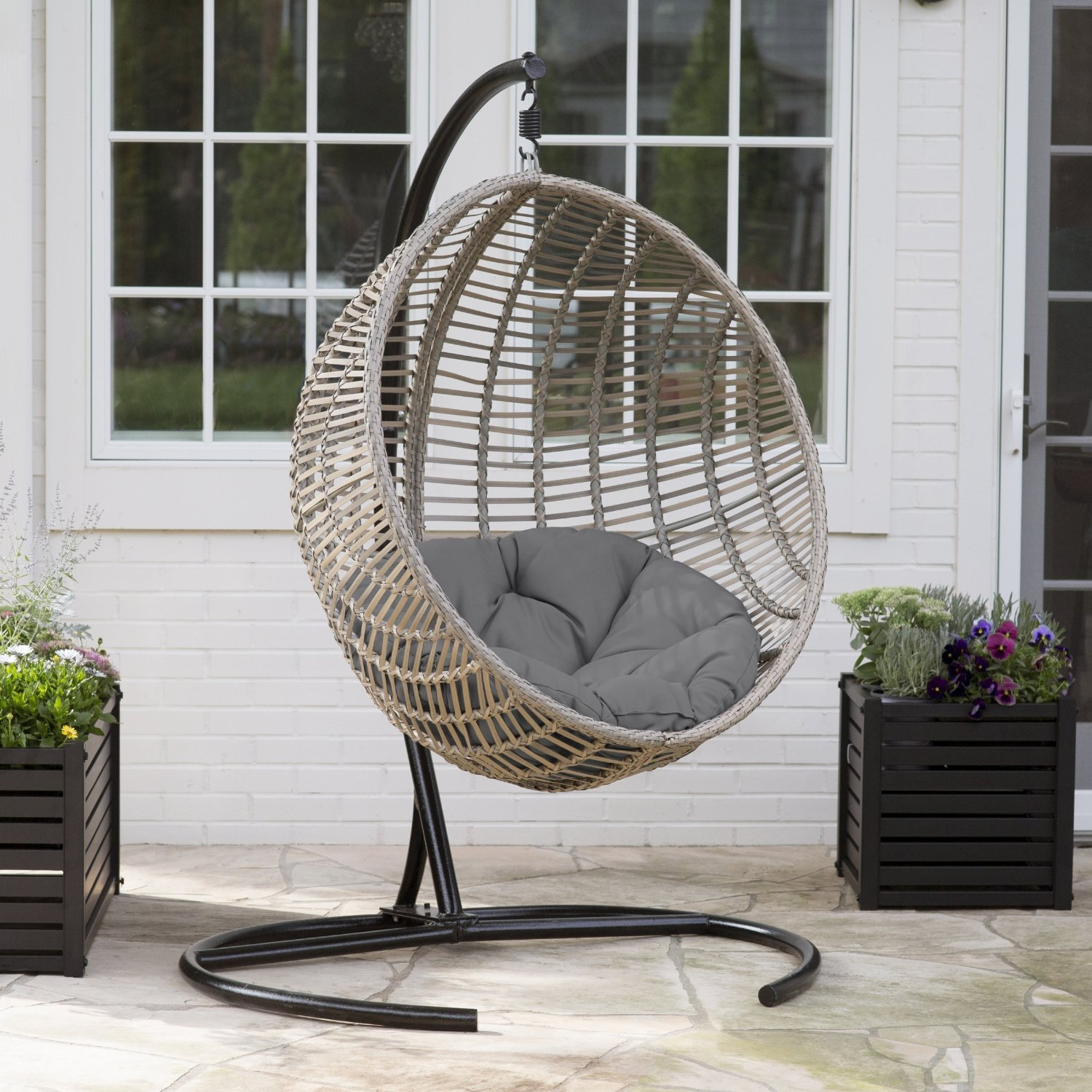 Swinging Chair Outdoor Review Wicker Hanging Chair With Stand By Island Bay