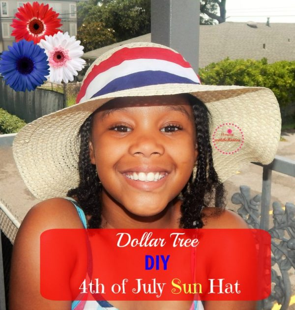 Dollar Tree- DIY 4th of July Sun Hat