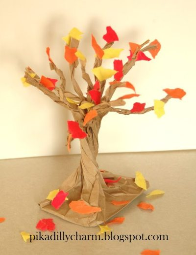 fall-crafts-Paper Bag Fall Tree1