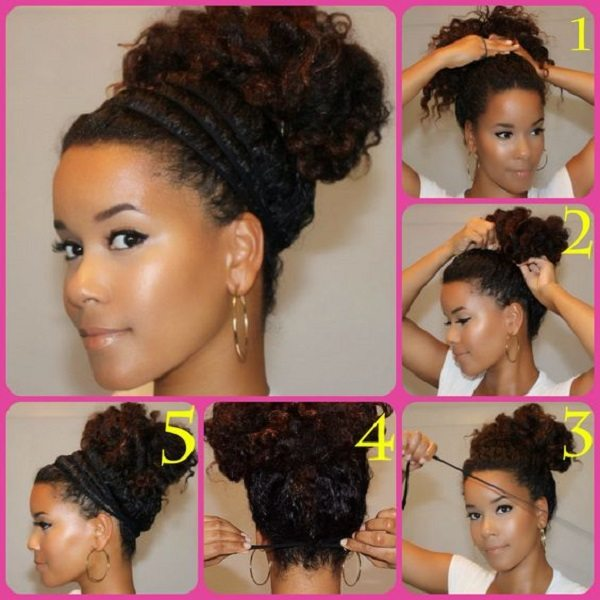 natural-hair-halo-bun-protectiven-natural-hairstyle