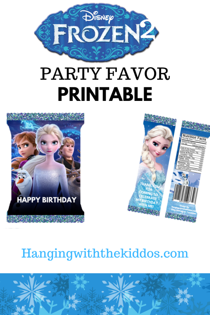 Frozen 2 Party Favor Chip Bag Template: FREE Printable