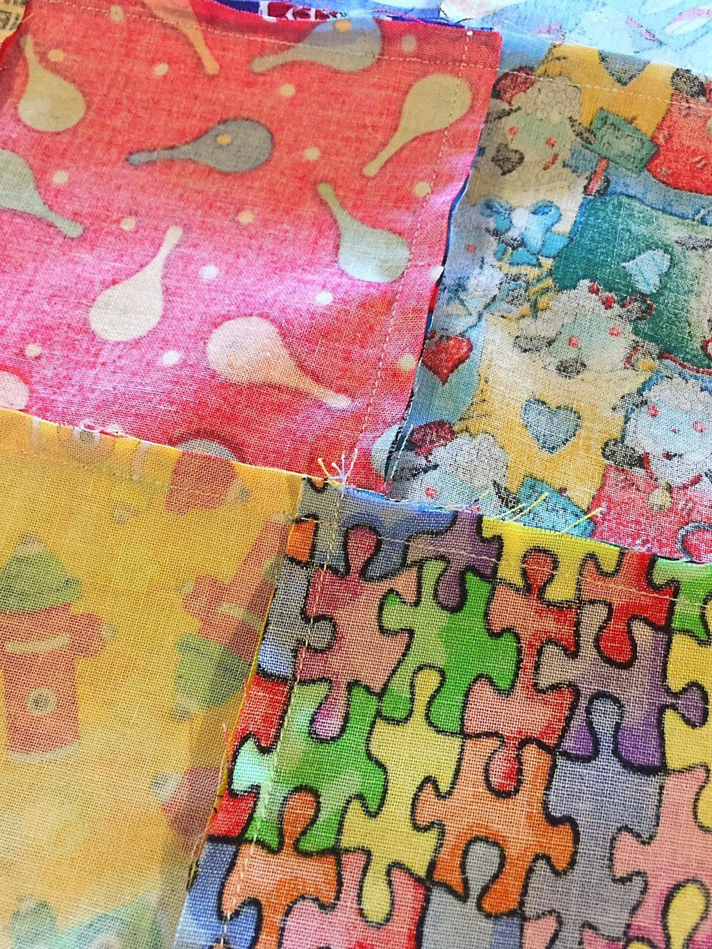 Baby Quilt Back Flat Seams