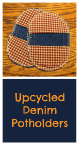 Upcycled Denim Potholders