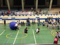 Kids pushing balls around