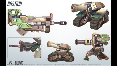 Bastion's Configurations (Recon, Sentry and Tank)
