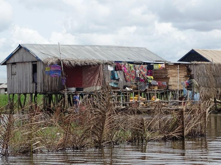 Ganvie – wioska rybacka na jeziorze w Beninie