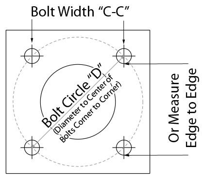 Light Pole Base Bolt Circle Calculator