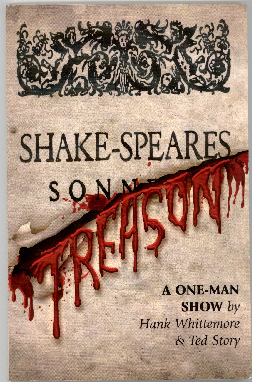 The Cover of the Printed Script for SHAKE-SPEARE'S TREASON, using the original title page of the 1609 quarto.