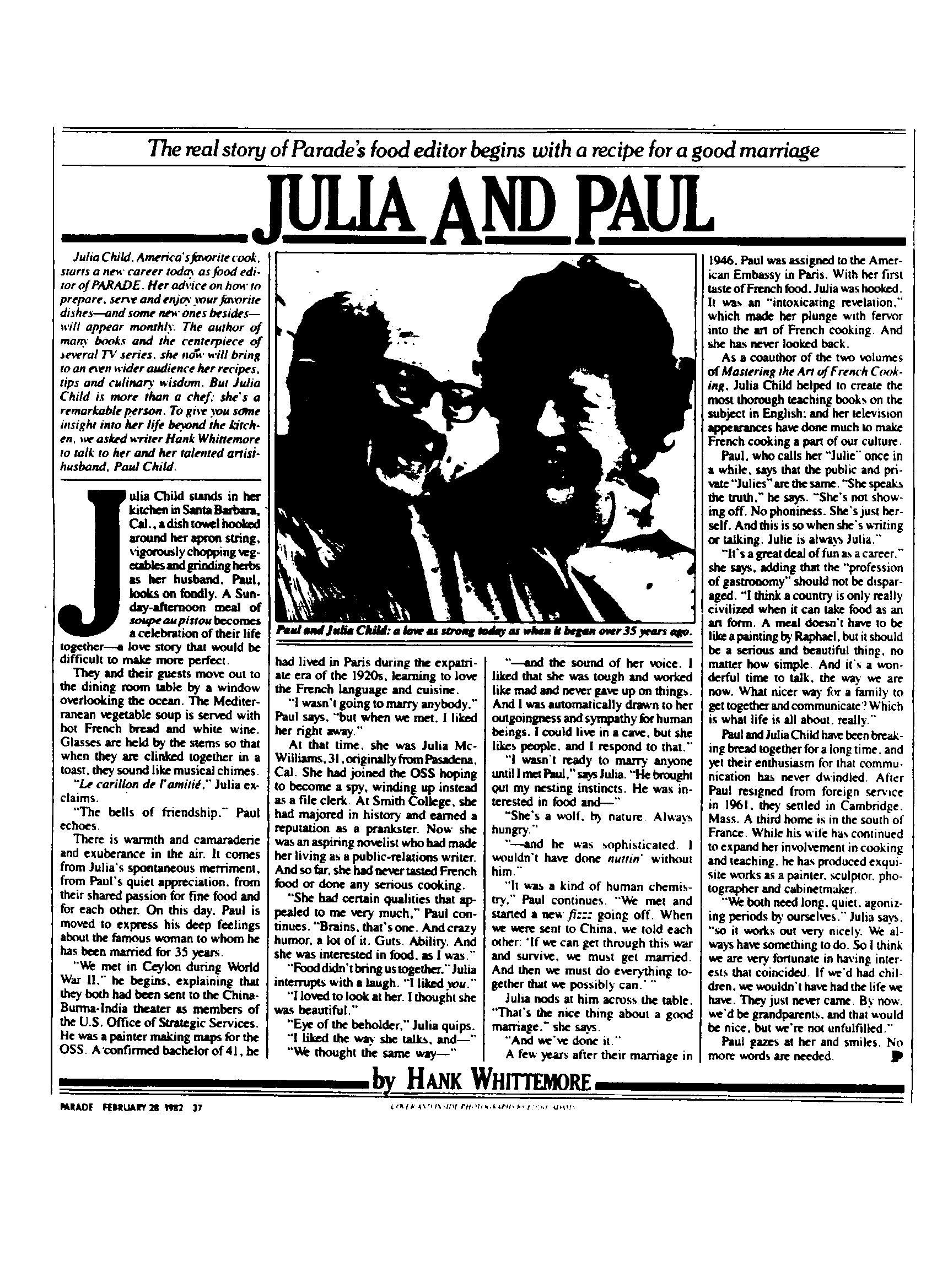 PARADE - Feb 28, 1982