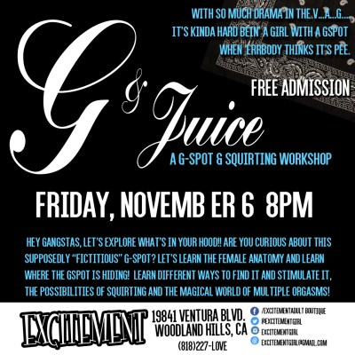 G & Juice: A G-SPOT & SQUIRTING WORKSHOP