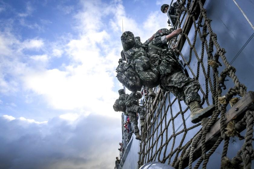 Republic of Korea Marines in training