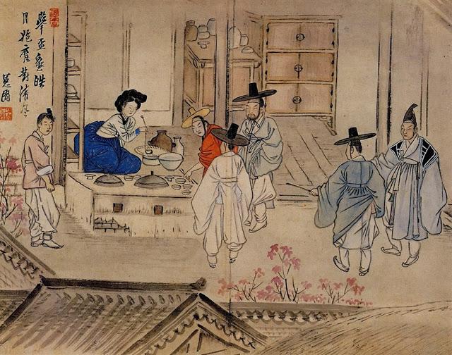 Eighteenth century Korean painting showing haejang