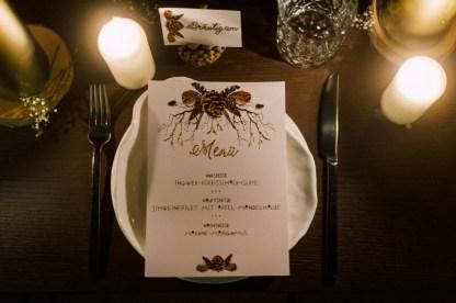 Boho Hochzeit Gold Menü Menükarte Platzkarte Tischkarte Bohemian Natur Einladungskarte