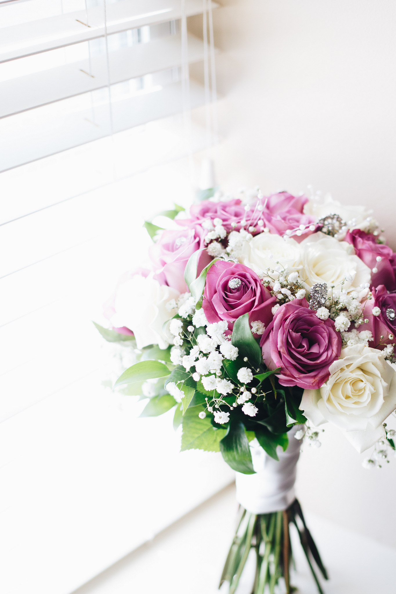 wedding bouquet - lavender roses