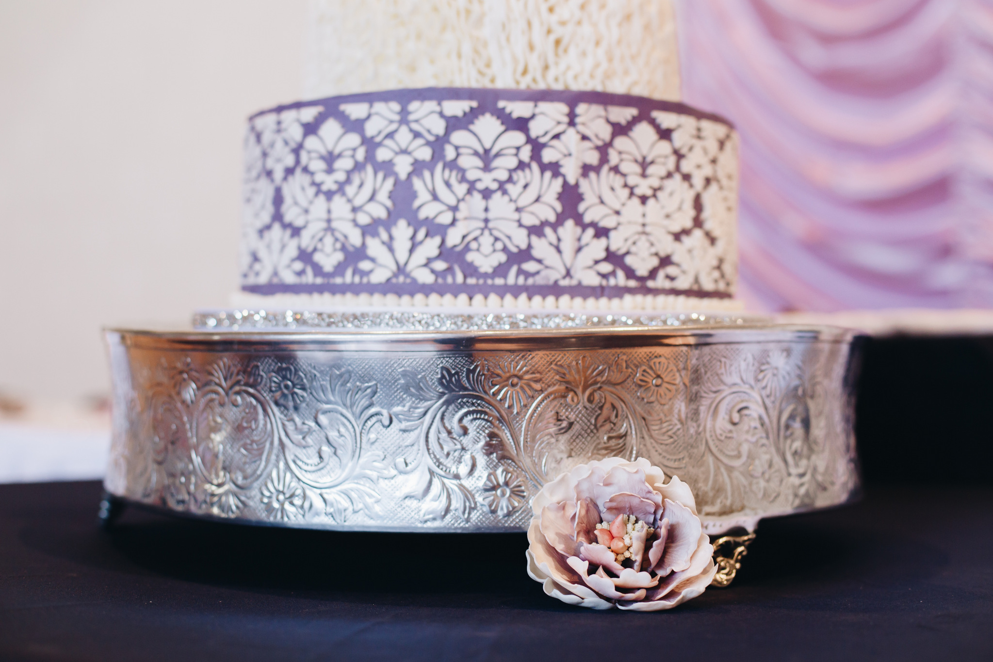 washington dc purple wedding cake