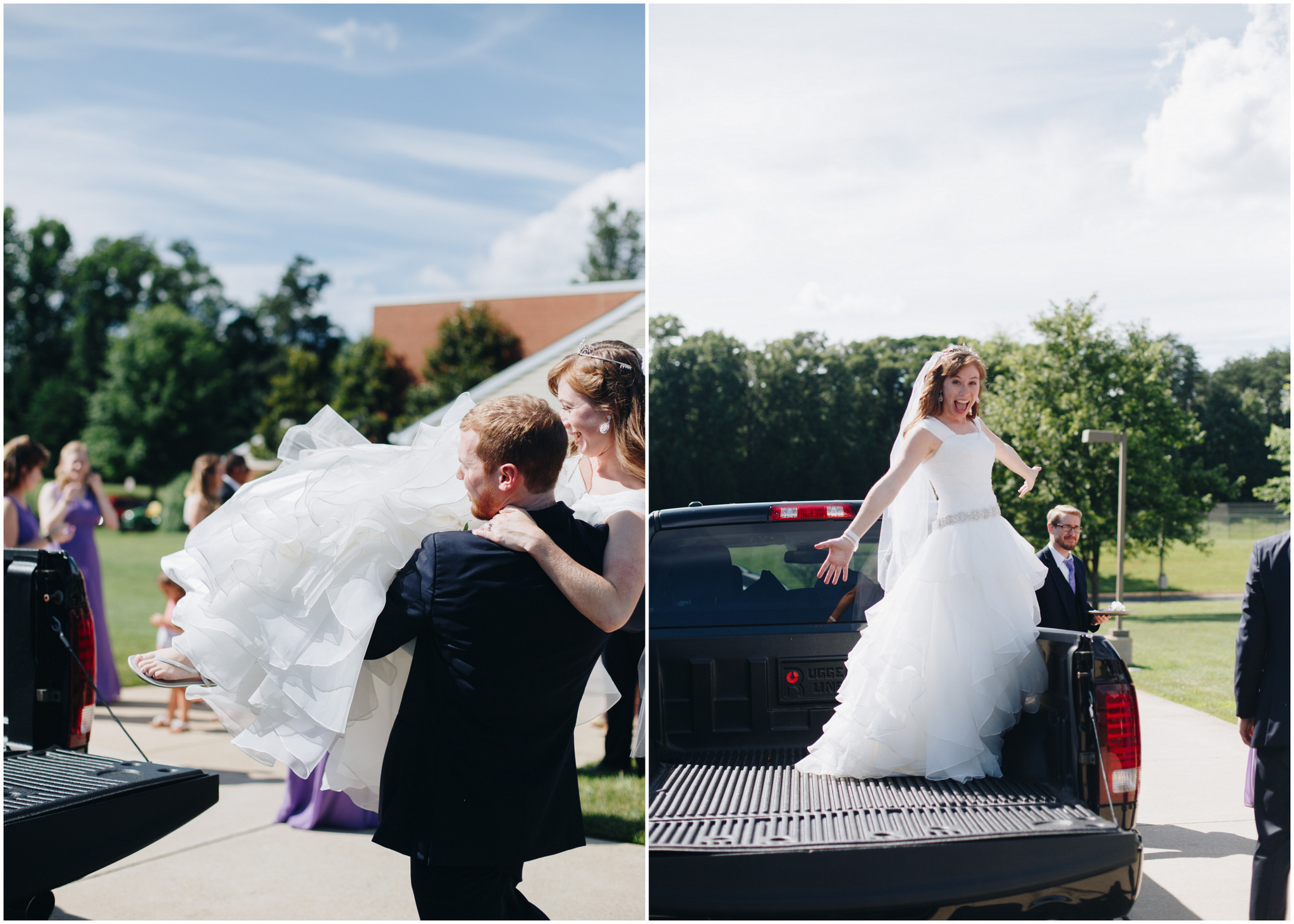 washington dc wedding - bubble exit